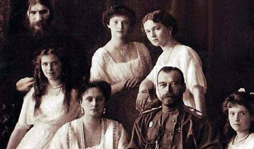 Portrait Raspoutine et famille royale